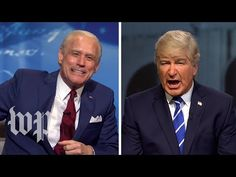 Jim Carrey, Alec Baldwin put SNL spin on Trump and Biden's simultaneous town hall events - YouTube