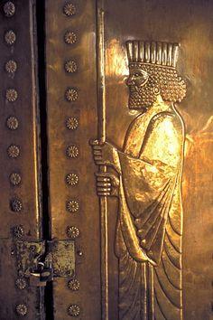 IRAN. Zoroastrian Sacred Sites. Door of the inner sanctum, temple of Chak Chak. via sacredsites.com