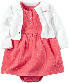 Carter's Baby Girls Dress Sets 126g285, Pink, New Born - Brought to you by Avarsha.com