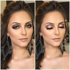 Saber valorizar os estilos de ❤️❤️ Boa noite Modelo: Acessorios: ___ Knowing how to valorize all the makeup styles is such a gift. Wedding Makeup For Brown Eyes, Wedding Makeup Tips, Natural Wedding Makeup, Bride Makeup, Wedding Hair And Makeup, Natural Makeup, Simple Makeup, Glam Makeup, Formal Makeup