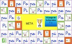 Juegos de la oca para aprender a leer editables presentamos el juego de la oca de la letra p mayúscula y minúscula