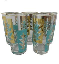 mid-century metallic glassware - One Kings Lane