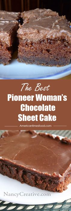 Chocolate Sheet Cake Pioneer Woman's Chocolate Sheet Cake – Delicious recipes to cook with family and friends.Pioneer Woman's Chocolate Sheet Cake – Delicious recipes to cook with family and friends. Just Desserts, Delicious Desserts, Dessert Recipes, Yummy Food, Dinner Recipes, Food Cakes, Cupcake Cakes, Baking Cakes, Bread Baking