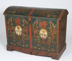 Norwegian antique chest: Vest Agder Kiste