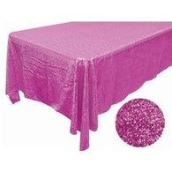 Pink Sequin Rectangle Tablecloth