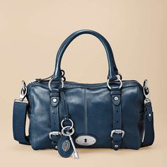 I'm not usually a 'handbag' coveting kinda gal... but this one comes in the 'perfect' blue to go with jeans, and I adore the detailing. Maddox Satchel by Fossil. If anyone every wants to get me something I'd never splurge for myself... THIS would be IT! $198.00