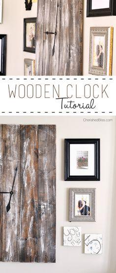 DIY Rustic Wooden Clock Tutorial