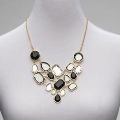 White Black Statement Necklace | $14.99