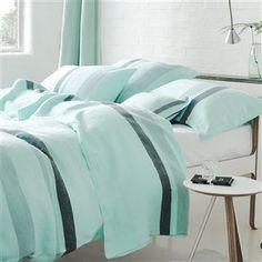 Sentier Aqua Bed Linen   Designers Guild