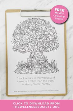 Like mindful colouring? Click to browse the collection of high-quality, practical self-help worksheets and coaching and therapy tools from The Wellness Society