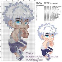 Schema punto croce Killua (Hunter x Hunter) 60x106 14 colori.jpg (2.26 MB) Mai osservato