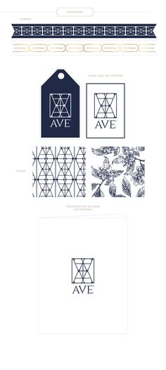 Emily McCarthy Branding | Ave Home Marketing Materials | www.emilymccarthy.com #branding