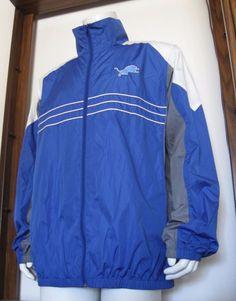 XL Mens G-III Apparel S.I. Detroit Lions Full Zip Windbreaker Jacket Blue EUC #GIII #DetroitLions