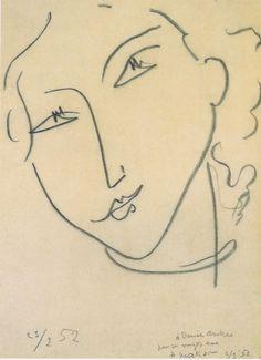 matisse, 'visage.' | matisse's eyes