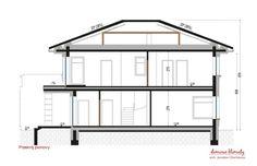 House design Andromeda N m² - Domowe Klimaty Two Story House Design, Two Story Homes, House Entrance, Ground Floor, House Plans, Floor Plans, Flooring, How To Plan, Houses