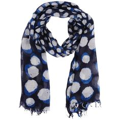Patchington Lunar Print Oblong Scarf ($32) ❤ liked on Polyvore featuring accessories, scarves, accessories scarves & wraps, blue pattern, lightweight scarves, long scarves, oblong scarves, wrap shawl and patterned scarves