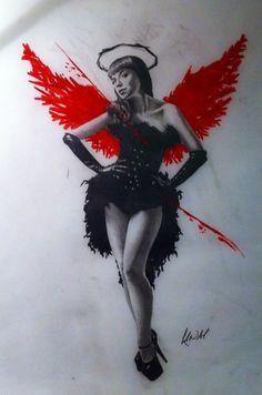 Polka trash angel design by CreativeCurseKina.deviantart.com on @deviantART