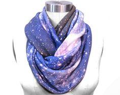 SMC Galaxy Scarf Nebula Printed Scarf Infinity by Shadowplaynyc