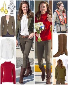 For the penultimate day of the Royal Tour, Kate was back in her blazer + jeans combo as she and William visited Haida Gwaii. Kate wore a blazer by Canadian designer Smythe. You may recall her wearing the navy version a number of times (ten in total if memory serves), including during her first tour in Canada. The tailored 'Wool Duchess Blazer' in 'Army' retails for £464/$595 and features an asymmetrical back hem, button cuffs and front button closure. This version is 100% wool but there…