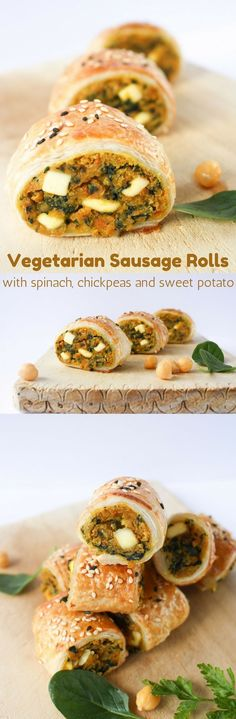 Frugal Food Items - How To Prepare Dinner And Luxuriate In Delightful Meals Without Having Shelling Out A Fortune These Vegetarian Sausage Rolls Wiht Spinach, Chickpeas, Sweet Potato And Feta Are So Good Even Die-Hard Sausage Fans Won't Miss The Meat Veggie Recipes, Cooking Recipes, Healthy Recipes, Soup Recipes, Recipies, Healthy Soup, Healthy Savoury Snacks, Healthy Sausage Rolls, Gluten Free Sausage Rolls