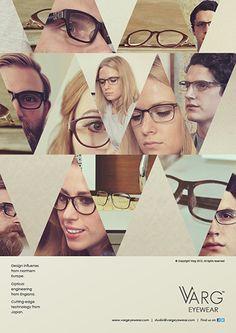Varg Eyewear Advertisements by Ross Sweetmore, via Behance
