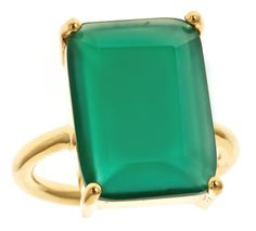 #emerald cut cocktail ring in green onyx