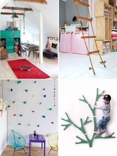 12 Ideas for Indoor Play Handmade Charlotte Childrens room Indoor Play Areas, Indoor Gym, Diy Kids Furniture, Woodworking Furniture, Furniture Plans, Bedroom Furniture, Furniture Design, Kids Gym, Kids Play Area