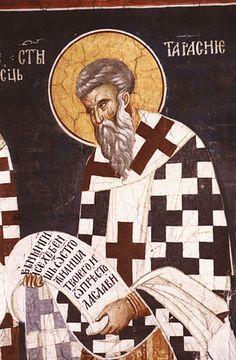 Святитель Тарасий , патриарх Константинопольский Byzantine Icons, Byzantine Art, Illuminated Manuscript, Religion, Gallery, Pictures, Painting, Image, Mosaics