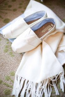 Definitely changing into my new white sparkly Toms for the reception! Thanks, sister!