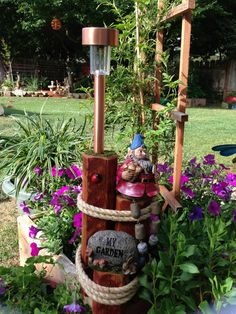 Garden Gnome Solar Light...etsy,com GardenCreationsSolar...$45.00