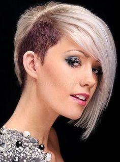 felnyírt női frizurák - oldalt felnyírt frizura nőknek