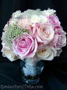 Pink, blush, and white bouquet
