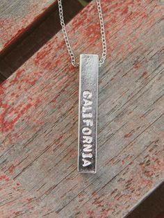 California bar necklace <3