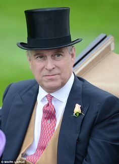 The Duke of York rode with the Queen, as well as Peter Phillips and his wife Autumn