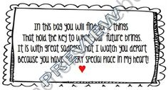 End of the Year Poem Printable  product from katietexas on TeachersNotebook.com