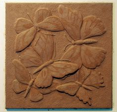 Butterfly (Decorative Wall Tiles): Clay Model 1