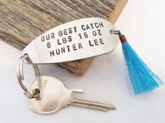Father's Day Gift from Son New Parent Gift Dad Keychain Fathers Day Dad to Be Gift from Wife Christmas Gift Dad Fishing Lure Keyring Husband by CandTCustomLures on Etsy