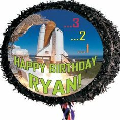 """Space Shuttle Pinata Personalized by Personalized Pinatas. $18.99. -You can include up to 30 characters of text to your message such as """"Happy Birthday Jim,"""" """"Happy Anniversary Ray & Tina,"""" """"Way to Go Lauren,"""" etc. Please call customer service at 877-774-0952 if you have questions.. -Your piñata is perfect for indoor use, and for use with small children since it is a pull-string piñata and doesn't have to be destroyed to be enjoyed, which also makes it the per..."""