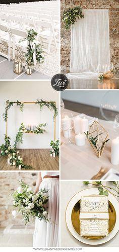 green and white minimalist modern wedding ideas