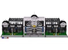 Starlight Terminus Train Station by Brick Builders Pro Lego Instruction Books, Custom Lego Sets, Modele Lego, Lego Trains, Lego Modular, Printable Pictures, Lego Building, Building Ideas, Lego House