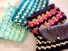 Knit and Love: BOLSO DE TRAPILLO A RAYAS PASO A PASO