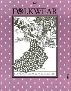 This Flamenco Dress pattern is wildly popular! Whether you are interested in ballroom dance, or you just love a frilly dress, this Folkwear Pattern design transcends interest groups.