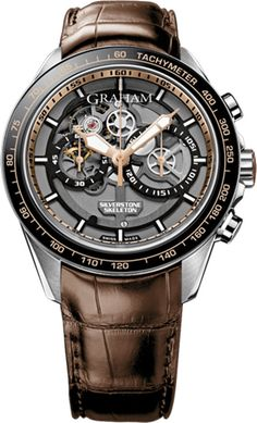 Graham Watch Silverstone RS Skeleton Steel Gold Limited Edition
