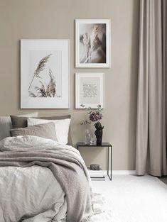Room Ideas Bedroom, Home Decor Bedroom, Bedroom Gallery Walls, Beige Walls Bedroom, Beige Curtains, Bedroom Prints, Bedroom Colors, Target Home Decor, Cheap Home Decor
