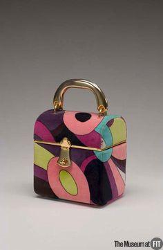 Bag Designer: Emilio Pucci 1914-1992 Medium: Printed cotton velveteen and gold tone metal Date: c.1969