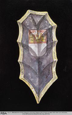 5/18/2012-  Mittelalterlicher Schild (Tartsche?) mit Kölner Wappen (drei Kronen) von etwa 1450 H. Fresenius, um 1450, Köln, Kölnisches Stadtmuseum, Inv.-Nr. RM 1938/208a — http://www.bildindex.de/bilder/rba_c001318a.jpg#