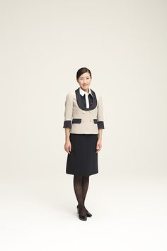 JAL, Japan Airlines cabin crew uniforms