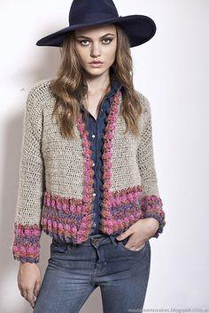 Florencia Llompart colección otoño invierno 2014. Moda tejidos otoño invierno 2014.: