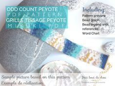 Discover my teal and gold foil abstract art inpired Peyote Bracelet PDF pattern made with Miyuki delica beads available for instant download and many more designs