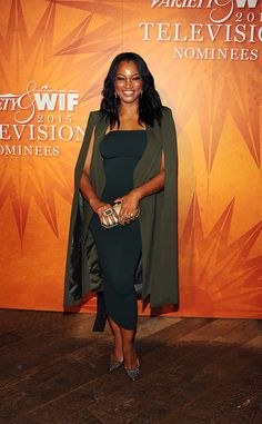 Garcelle Beauvais from Variety & Women in Film 2015 Emmys Party  TheGrimm actress looks stylish in a cape.